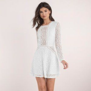 Tobi Lady Capulet White Lace Skater Dress